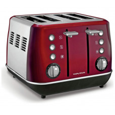 Morphy Richards 240108 Evoke 4 Slice Toaster - Red