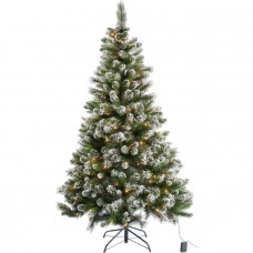 Pre Lit Snow Tipped Christmas Tree with 180 Lights - 6ft