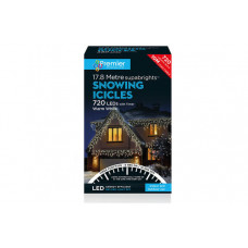 Premier Decorations 720 LED Snowing Icicles - Warm White