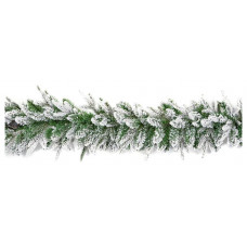 Premier Decorations 1.8m Snow Garland - Green