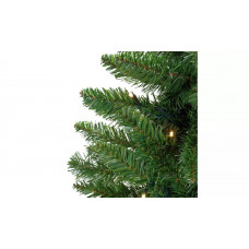 Home 7ft Pre-lit Christmas Tree - Green