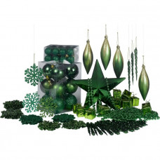 100 Piece Emerald Christmas Decoration Starter Kit