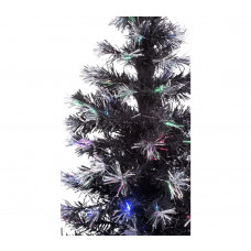 Home 4ft Fibre Optic Christmas Tree - Black