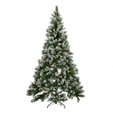 Home 7ft Pre-lit Snow Tipped Christmas Tree
