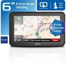 Binatone U605 6 Inch Sat Nav Lifetime Maps Uk & ROI