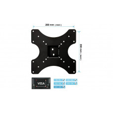 AVF Standard Tilting Up To 40 Inch TV Wall Mount