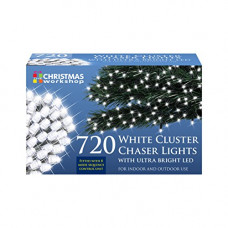 Christmas Workshop 720 LED Chaser Cluster Lights - Warm White