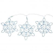 Set of 3 Snowflake Light Christmas Decorations