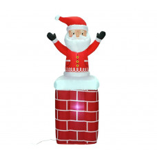 Home Inflatable Christmas Santa On A Chimney