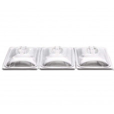 3 x Replacement Lids For 3 Pan Buffett Warming Food Server Warm Tray