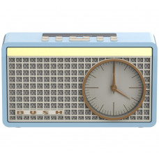 Bush Classic Retro Analogue Clock Radio - Blue