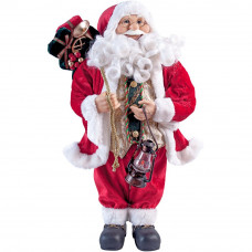 60cm Traditional Standing Santa Decoration