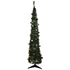 Home 6ft Pop Up Pre-Lit Christmas Tree - Green