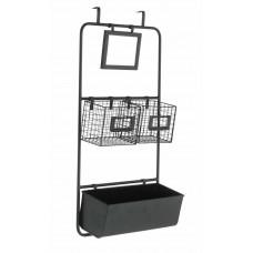 Home Overdoor Storage Set - Matt Black