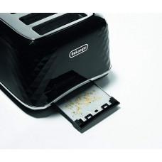DeLonghi Brillante CTJ4003BK 4-Slice Toaster - Black