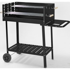 Deluxe Black Steel Party Trolley Charcoal BBQ