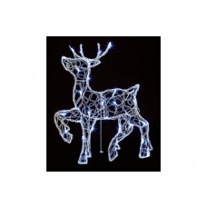 Acrylic Standing LED Reindeer - White