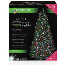 Premier Decorations 2000 LED Treebright Lights - Multi