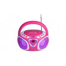 Pretty Pink Boombox CD FM/MW Radio - Pink