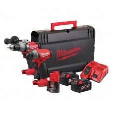 Milwaukee M18ONEPP2A-523X 18v ONEKEY Cordless Drill & Impact Driver Set