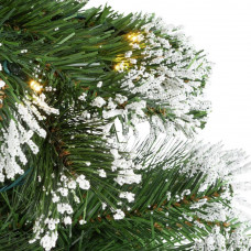 Home 6ft Pre-Lit Snow Tipped Christmas Tree