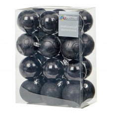Premier Decorations 35 Piece Luxury Chrismas Tree Decoration Set - Black