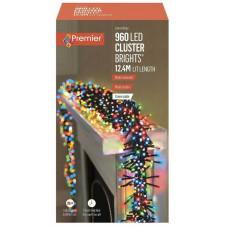 Premier 960 Multi-Action LED Cluster Lights With Timer - Multicoloured