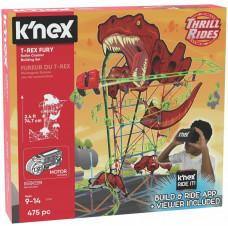 K'NEX T-Rex Fury Roller Coaster Building Set