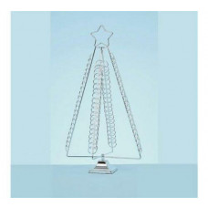 Premier Decorations 50cm Christmas Tree Card Holder - Chrome