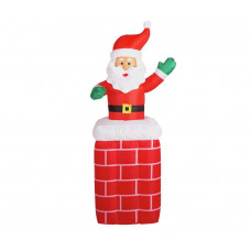 Home Inflatable Santa on Chimney