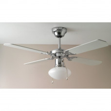 Home Ceiling Fan - White and Chrome