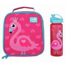 Tinc Flamingo Lunch Bag & 500 ml Water Bottle - Pink