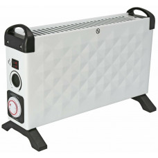 Challenge Diamond 3kw Convector Heater With Timer - White
