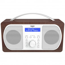 Bush DAB Radio - Walnut (Battery Operated Only)