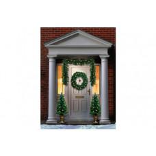 Premier Decorations Pre-Lit Christmas Door Set (No Garland)