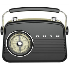 Bush Classic Retro Mini FM Radio - Black (Unit Only)