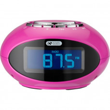 Acoustic Solutions Smartie Clock with Docking Station - Pink (No Instructions)