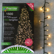 Premier Decorations 1500 Christmas Tree Lights & Timer - Vintage Gold