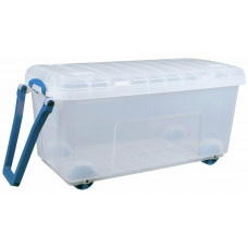 Really Useful 160 Litre Clear Heavy Duty Trunk With Handle