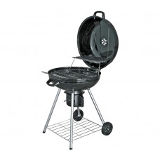 Charcoal 56cm Kettle BBQ Starter Pack - Black