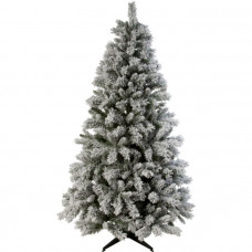 Home 6ft Snow Covered Christmas Tree - Green