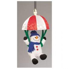 Battery Operated Musical Animated Parachuting Christmas Snowman